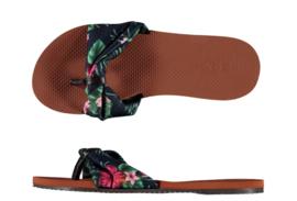 Flip flops Dames | Teenslippers Flowers met stof