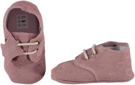 XQ Leren babyschoentjes Pink Hearts