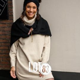 LOT83   Knitted fijn gebreide lange sweater   Britt Offwhite