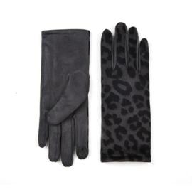 Dames handschoenen met Tijger print Grijs