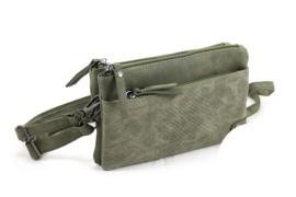 Groen schoudertasje | Clutch | Crossbodytasje Bari
