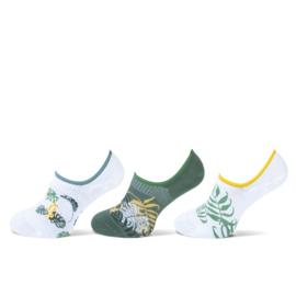 Teckel Dames sneakersok Hawaï 3-Pack Maat 36/42