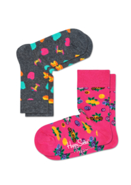 Happy Socks Kids 2-pack  Apple Sokken KAPP02-9000