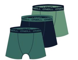 O'Neill 3-Pack Heren Boxershorts Green Marine Lilypad | 900113