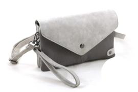 Licht grijs 2-kleur schoudertasje | clutch Cannes
