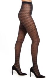 Oroblu   Fashion Lacing 40 denier Panty   Zwart