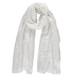 Sarlini lange Dames sjaal Wit