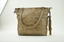 Bag2Bag Shopper - Schoudertas Victoria Grey/Brownish