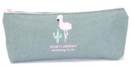 Make-up Tasje | Etui Flamingo Grijs