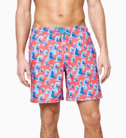 Happy Socks Wave Long Swim Shorts