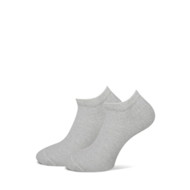 Marcmarcs Dames Low Sneakersokje   2-Pack   Moscow Grey Zilver