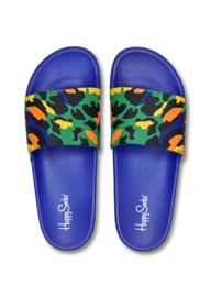 Happy Socks Pool Slider | Badslippers Leopard