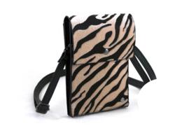 Zwart / naturel Zebra heup | telefoontasje Safari