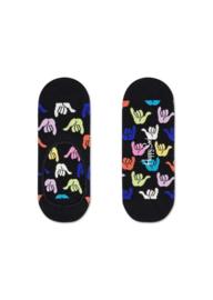 Happy Socks Liner | Sneakersock | Hang Loose Zwart