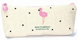 Make-up Tasje | Etui Flamingo Beige