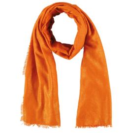 Sarlini lange Dames sjaal met subtiele gouden glanslook | Orange