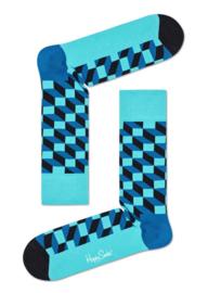 Happy Socks Filled Optic Aqua Socks