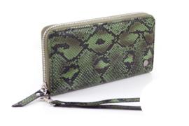 Groene python dames portemonnee Rosario