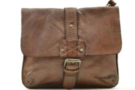 Bag2Bag Handig Klein Tasje | Heuptasje Tyler Dark Tan Cognac