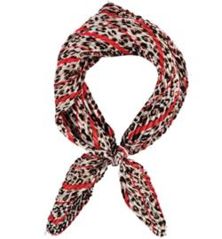 Sarlini Neksjaaltje | Haarsjaaltje Leopard Rood