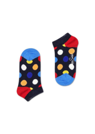 Happy Socks Kids Big Dot Low Sock Donkerblauw
