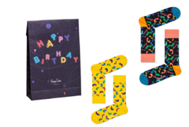 Happy Socks 2-Pack Gift Bag Happy Birthday