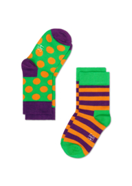 Happy Kids 2-pack Big Dot Groen &  Stripes