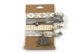 Beige / grijs/ goud Elastische Armbanden, 306