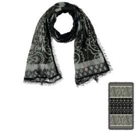 Sarlini Lange geweven Dames Sjaal Khaki