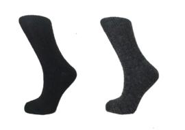 Boru Lamswollen sokken | 2-Pack | Zwart & Antraciet