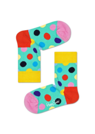 Happy Socks Kids Big Dot Sock Groen