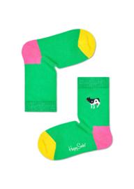 Happy Socks Kids Yin Yang Cow Embroidery Socks