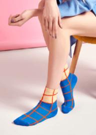 Happy Socks Hysteria Karen  Ankle Sock Blauw, Maat 36-41