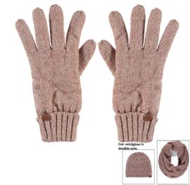 Sarlini knitted Dames handschoen Roze