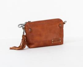 Bag2Bag Dawson Schoudertasje | Crossbody | Clutch Cognac
