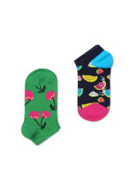 Happy Socks Kids 2-Pack Watermelon Low Sock