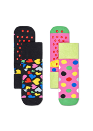 Happy Socks 2-Pack Antislip | Heart | 2-3 jaar, Maat 24-26