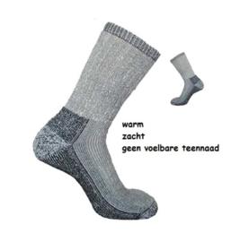 Merino wollen sokken | Grijs/Wit Melange