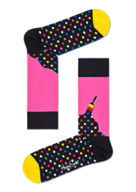 Happy Socks Paint Sock Zwart