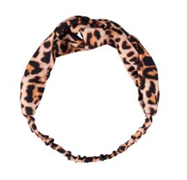 Sarlini Fashion Elastische haarband Bow | Leopard Brown
