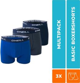 3-Pack O'Neill Heren Boxershorts Navy & Cobalt, 900003