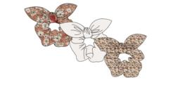 Sarlini Haarelastiek Scrunchies Antique Pink met strik | 3 stuks