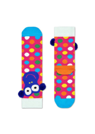 Happy Socks Kids Monkey Sock met pompomps