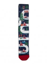 XPooos Socks, kerstsokken, Xmas Busy Road 60098