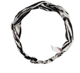 Sarlini Fashion Elastische haarband Bow | Black Sand