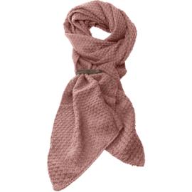 LOT83 | Bo | Lange knitted Gebreide Sjaal | Oudroze