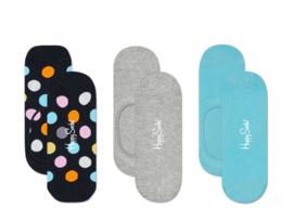 Happy Socks Liner Socks Big Dot 3-Pack