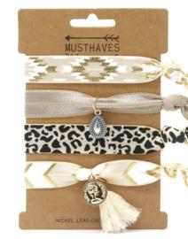 Elastische Hair Tie of Armbanden | Fantasy B0105