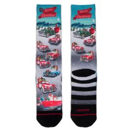 XPooos Socks, kerstsokken, Xmas Busy Santa 60138