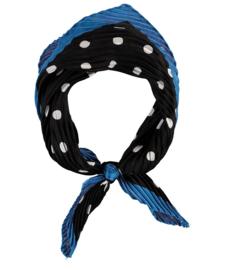 Sarlini Neksjaaltje | Haarsjaaltje Zwart/Blauw met stippen